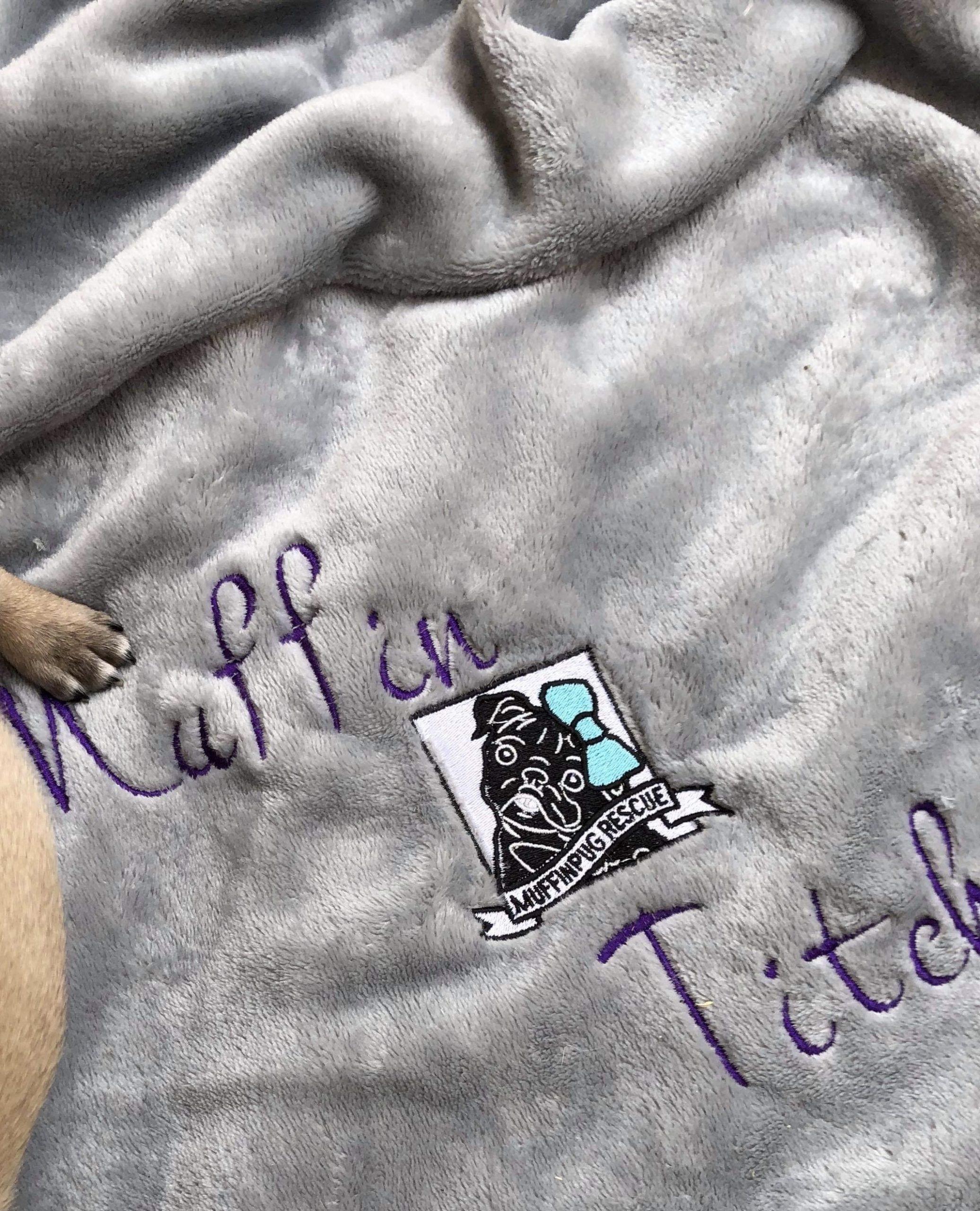 MuffinPug Plaid Fleece Blanket